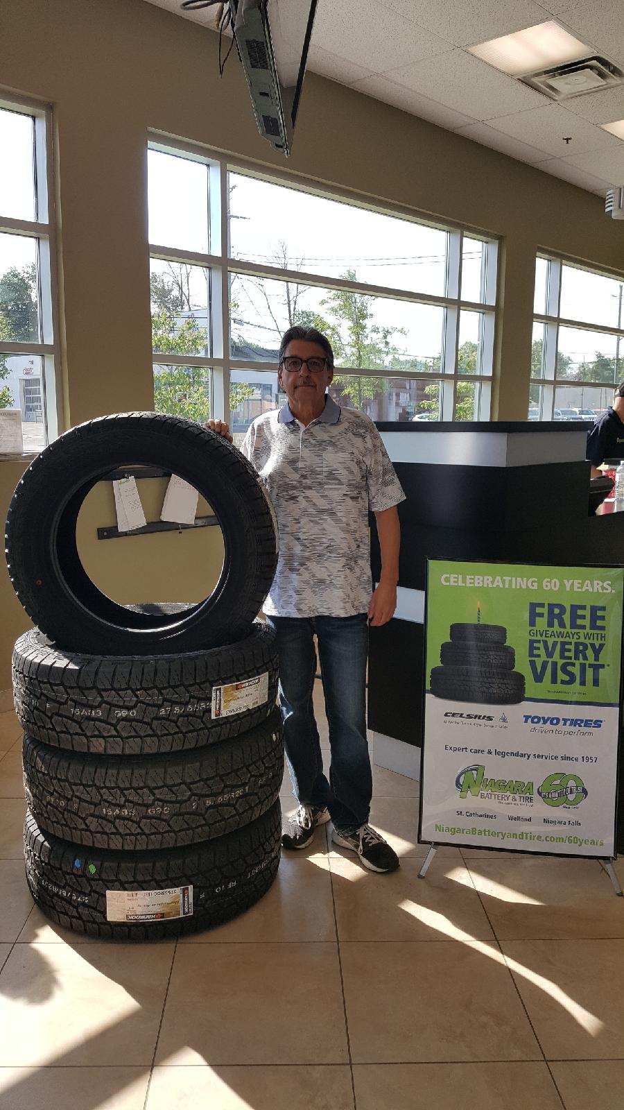 Niagara Battery & Tire Contest Winner!