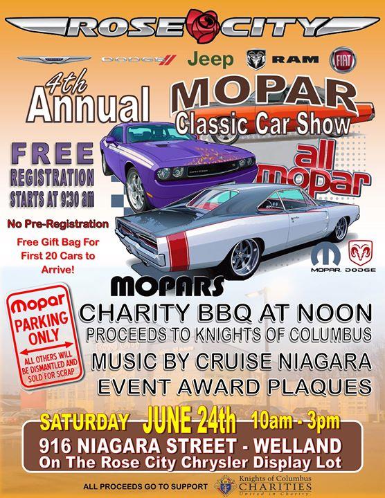 Rose City Dodge 4th Annual Mopar Classic Car Show