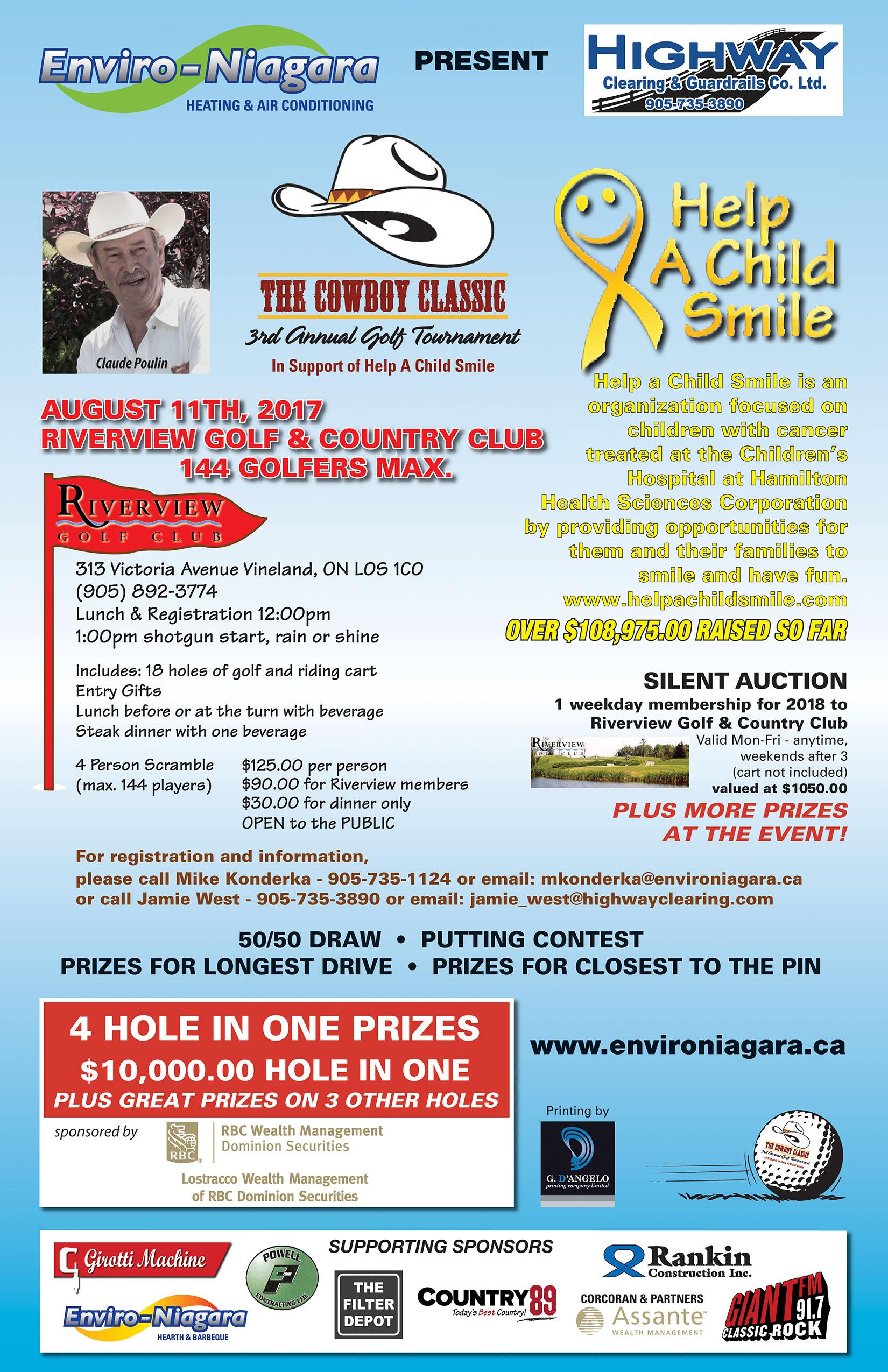 Enviro Niagara presents the 3rd Annual Cowboy Classic Golf Tournament