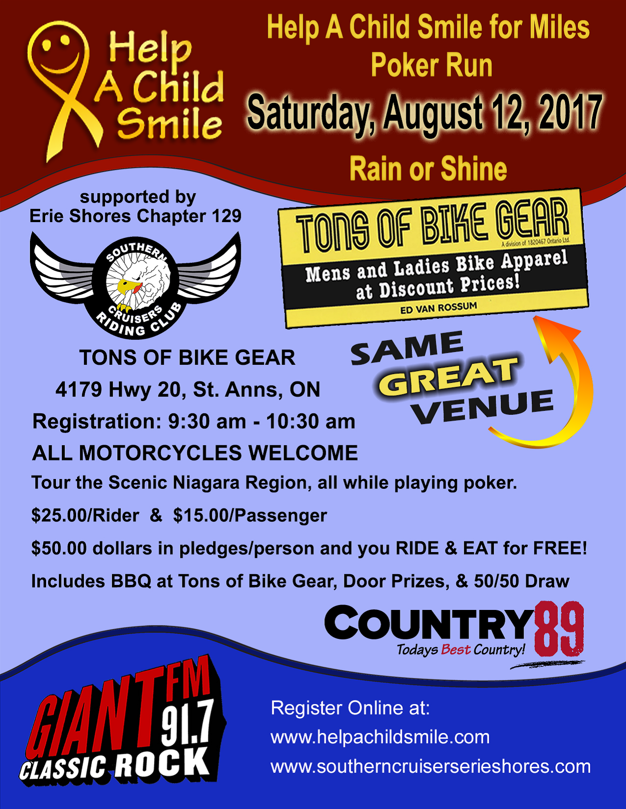 Help a Child Smile for Miles Poker Run