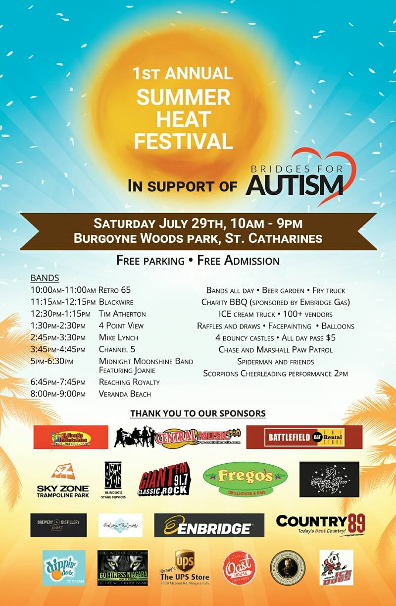 1st Annual SUMMER HEAT FESTIVAL in Support of Bridges for Autism