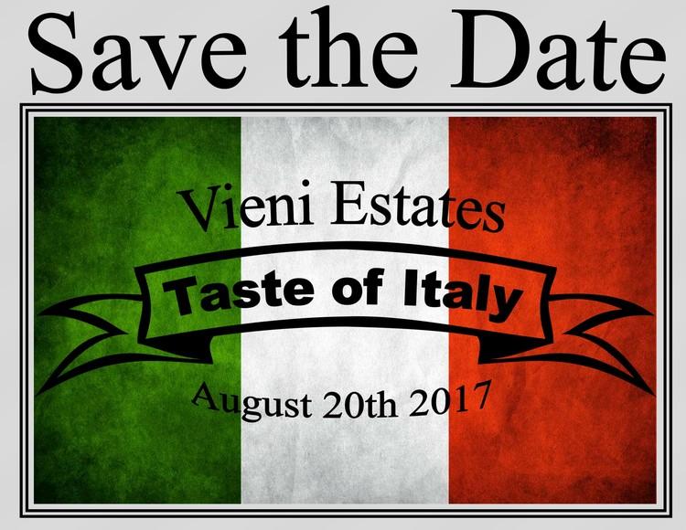 Taste of Italy at VIENI ESTATES