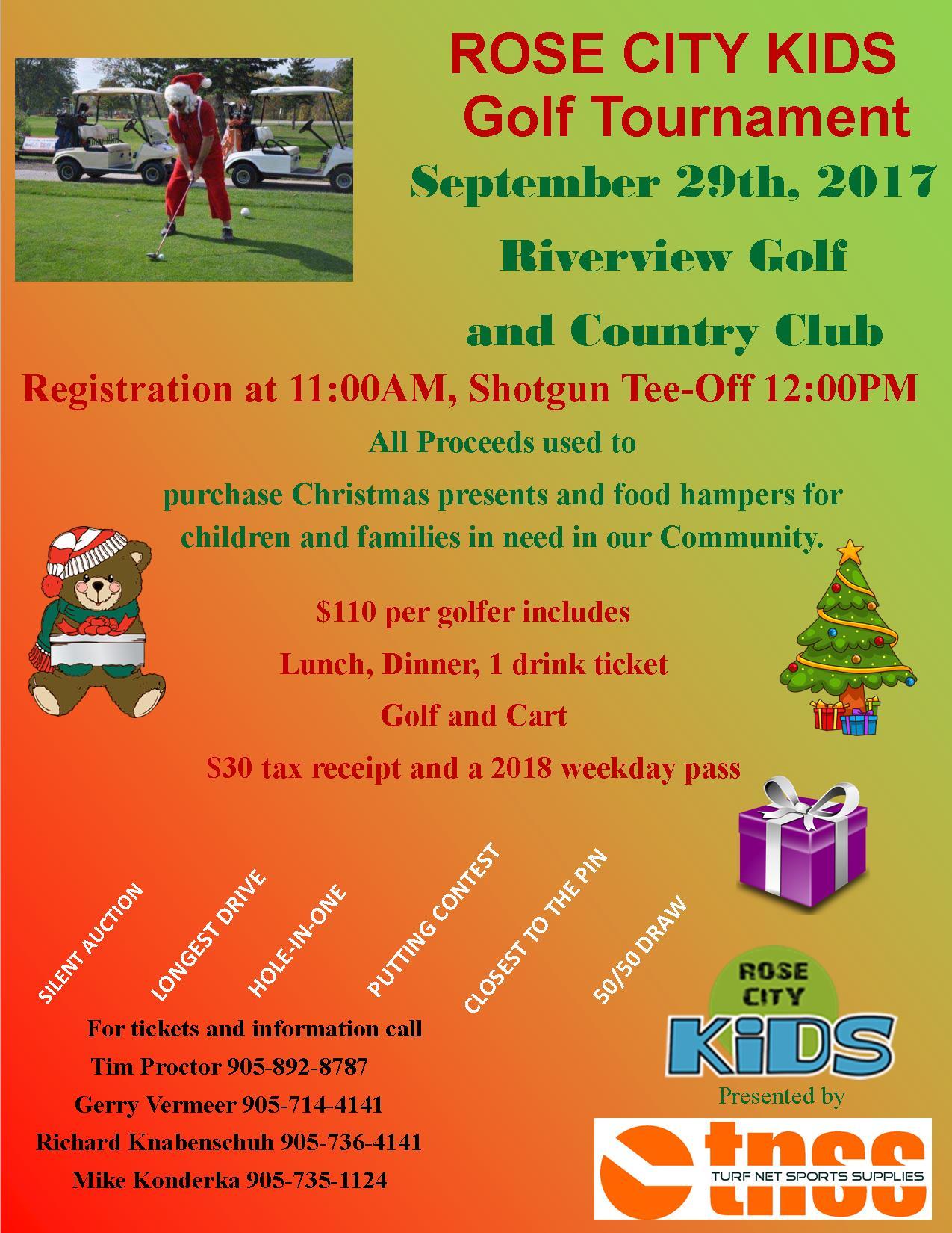 ROSE CITY KIDS Golf Tournament