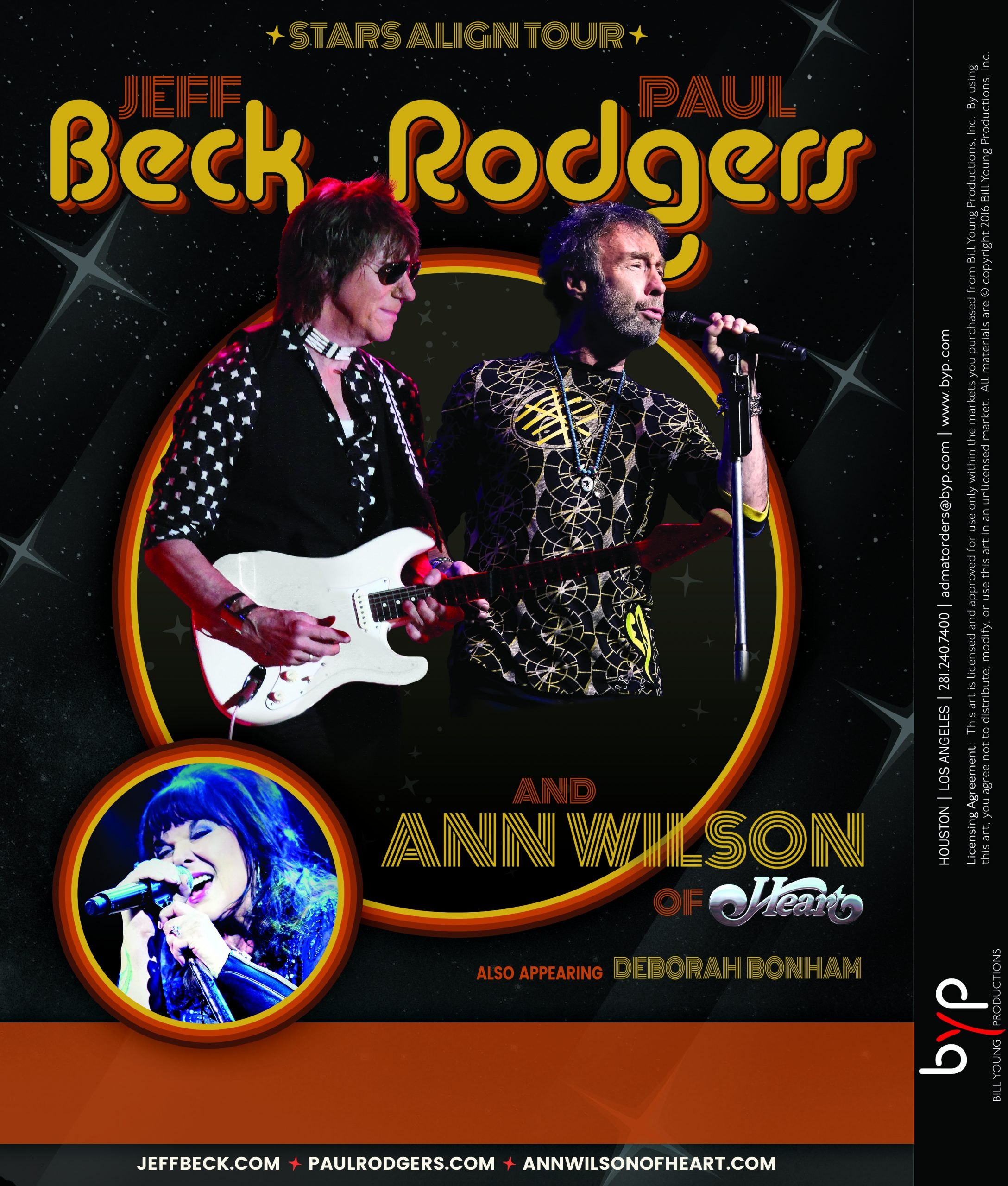 Stars Align Tour with Jeff Beck, Paul Rodgers & Ann Wilson