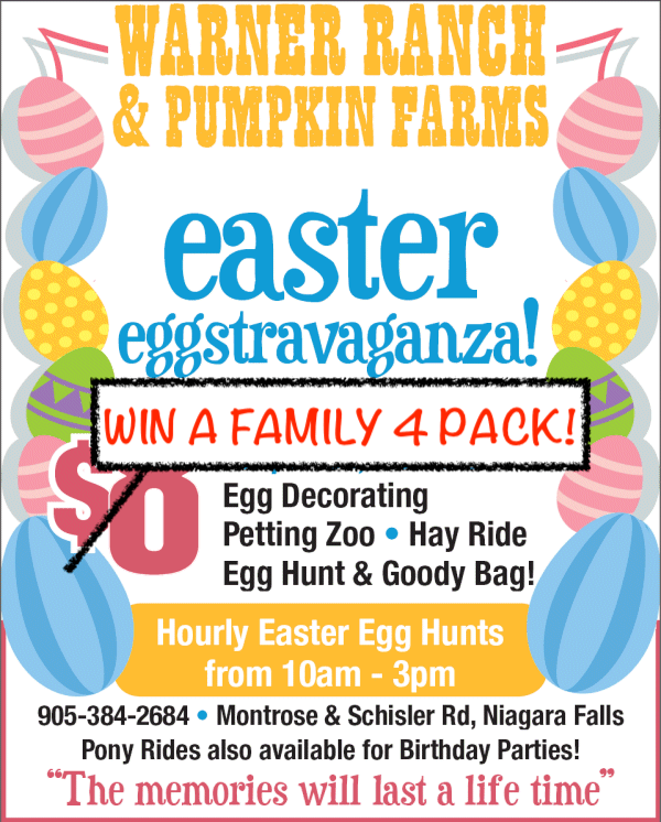 WIN a Family 4 Pack for Easter Fun at Warners!