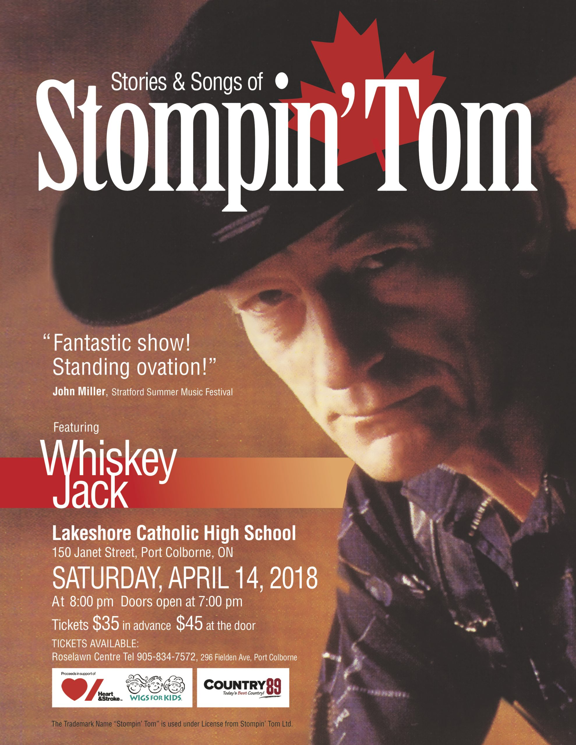 "We're sending You to Whisky Jack's ""Stompin' Tom"" Fundraiser!"