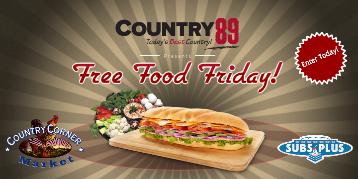 Feature: http://www.country89.com/free-food-friday/