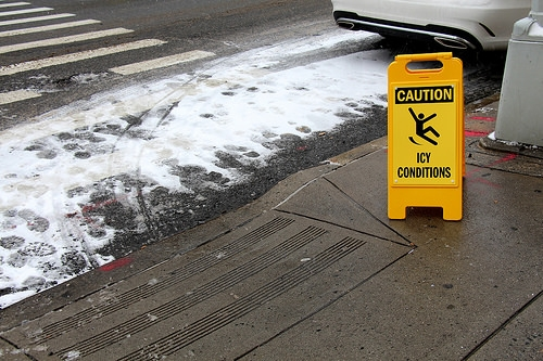 Be careful in Slippery Conditions