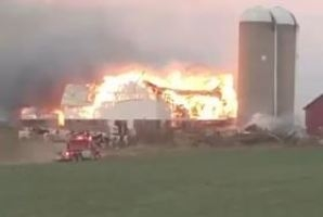 Emergency Crews In Waupaca County Respond To Barn Fire Friday