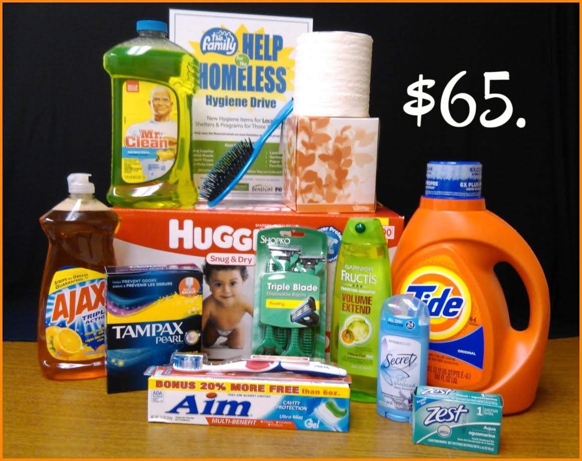 Help the Homeless Hygiene Drive collecting donations