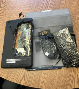 Tablet catches fire at Fond du Lac school