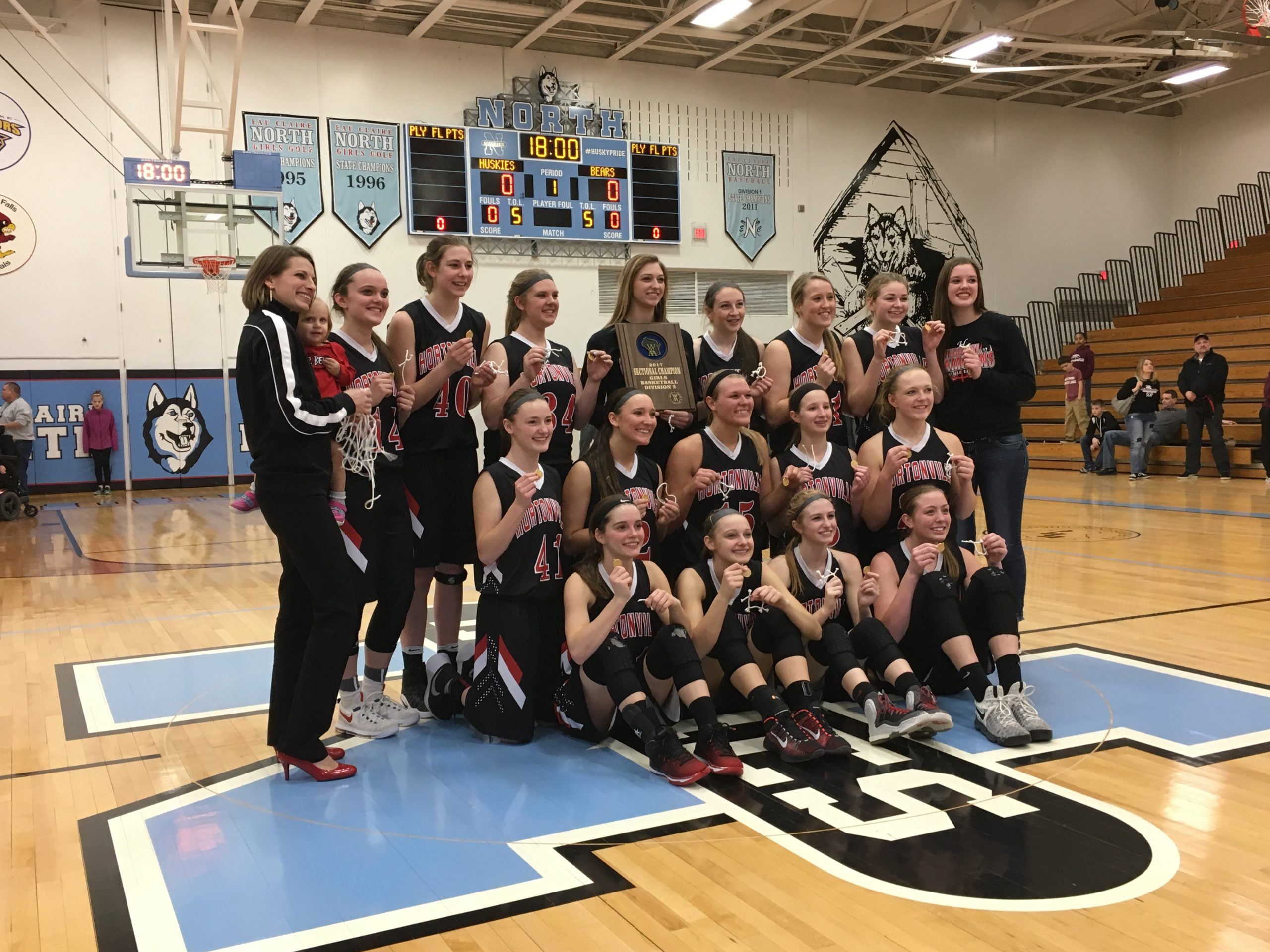 WIAA Div 2 Girls Basketball Sectional Finals: Hortonville State Bound; Frederick Nets 1,000th