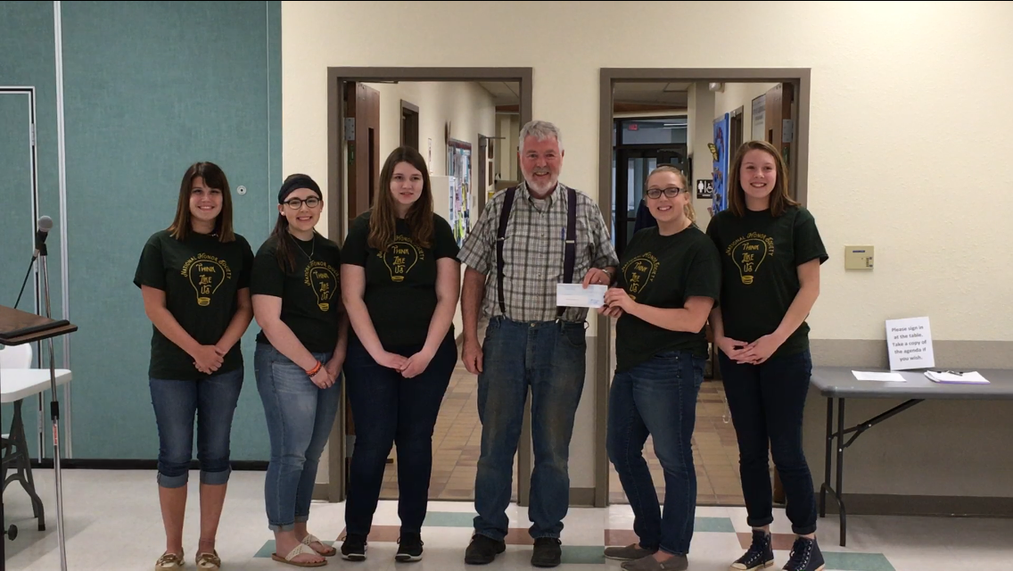 Clintonville National Honor Society makes donation to veterans memorial
