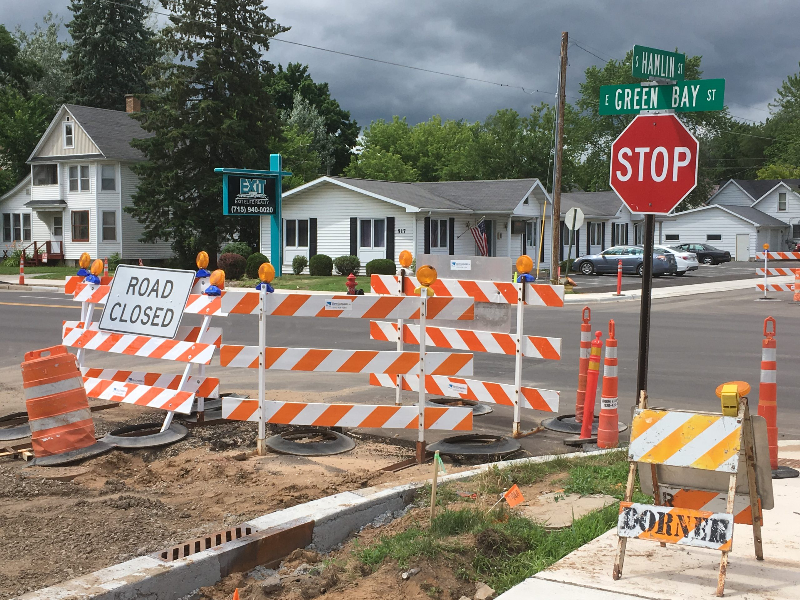 Shawano construction moving along, despite rainy summer