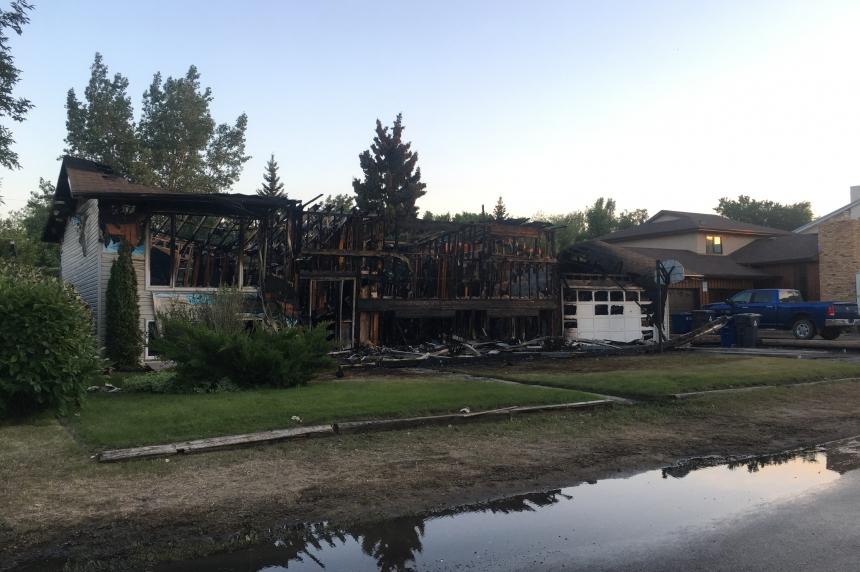 Blaze leaves family homeless in Pilot Butte