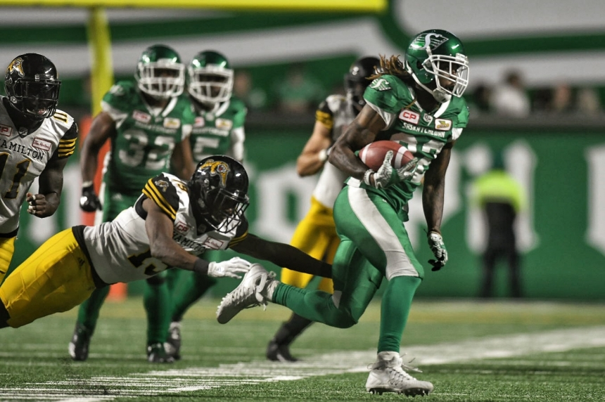 Riders trounce Tabbies 37-20 for 1st win of the season