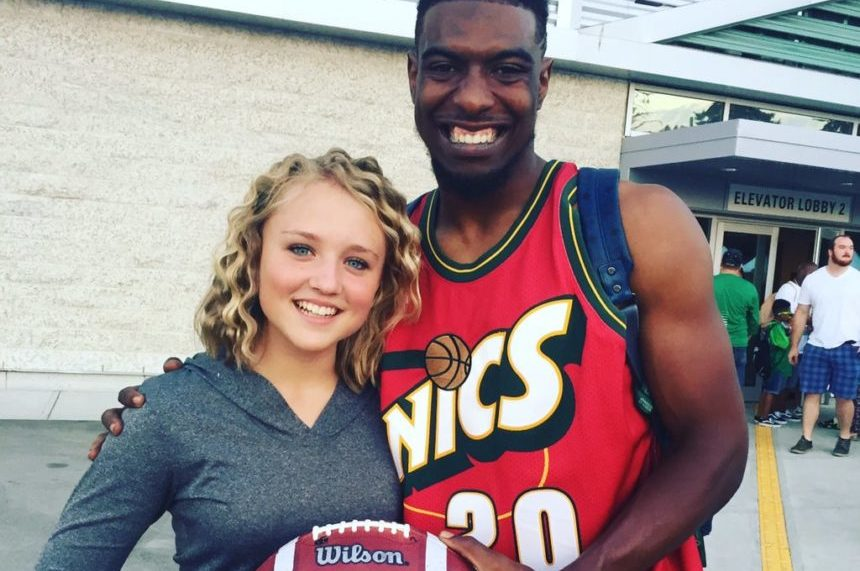 Roughrider Duron Carter singlehandedly makes fan's day