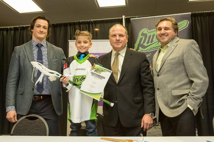 Saskatchewan Rush make 9-year-old boy honorary player