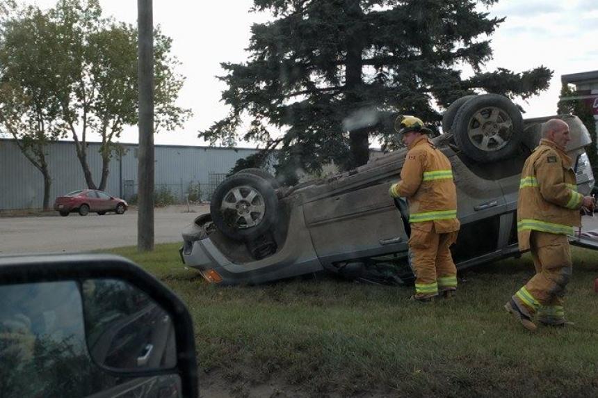 Stolen Jeep flipped in Regina
