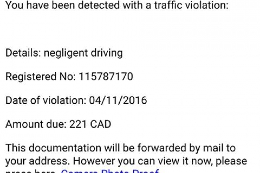 Regina police give heads up about traffic violation email scam
