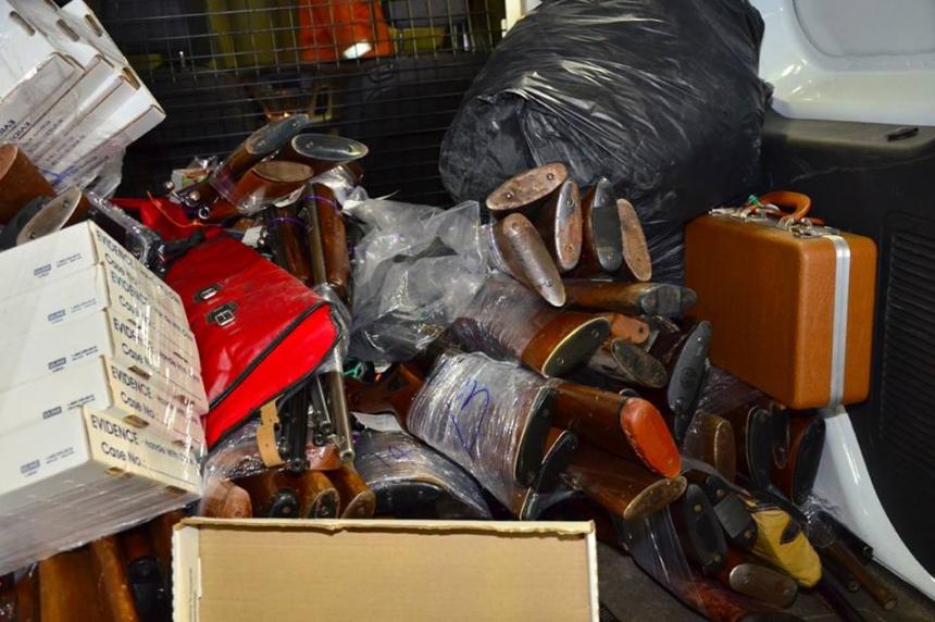 Regina police destroy guns gained through amnesty program