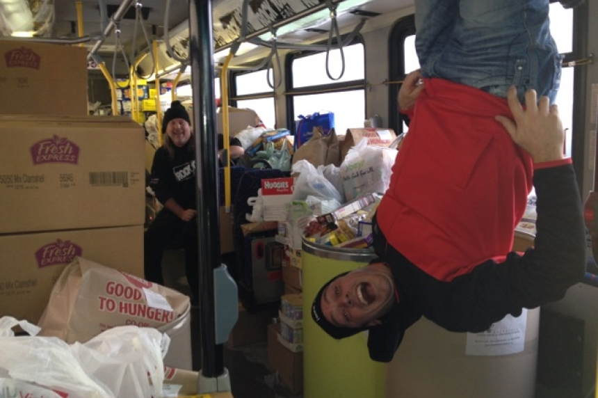 Rock 102 set to Stuff the Bus with groceries for Saskatoon food bank