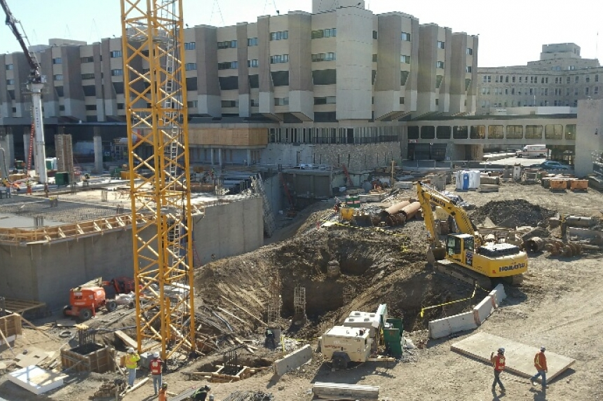 Work on schedule at Sask. children's hospital site