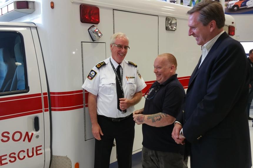 Ambulance donation helps Radisson family heal after tragic loss
