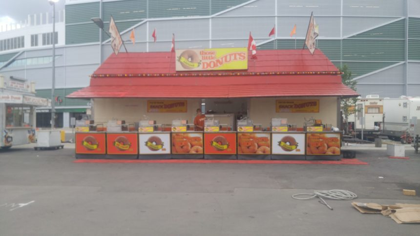 Fan favourites like mini-doughnuts are available, as well as new foods, at the Queen City Ex, which opens to the public on Aug. 2, 2017. (Britton Gray/980 CJME)