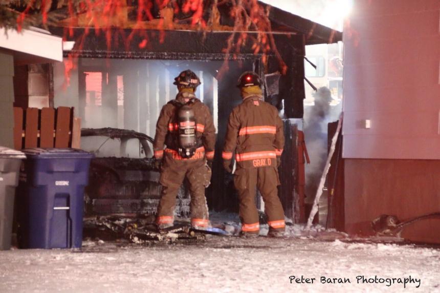 Fire destroys garage, vehicle in College Park
