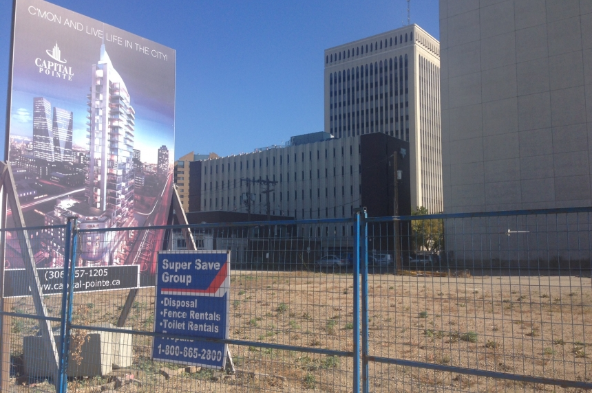 Regina mayor says permit sought to start Capital Pointe project again