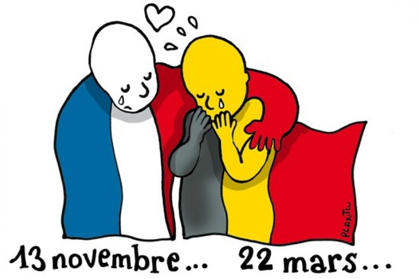 Social media reacts to the attacks in Brussels