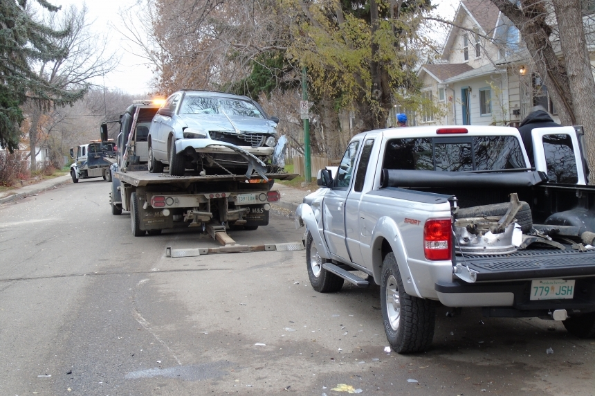 Alleged impaired driver in stolen vehicle charged in Garnet Street crashes