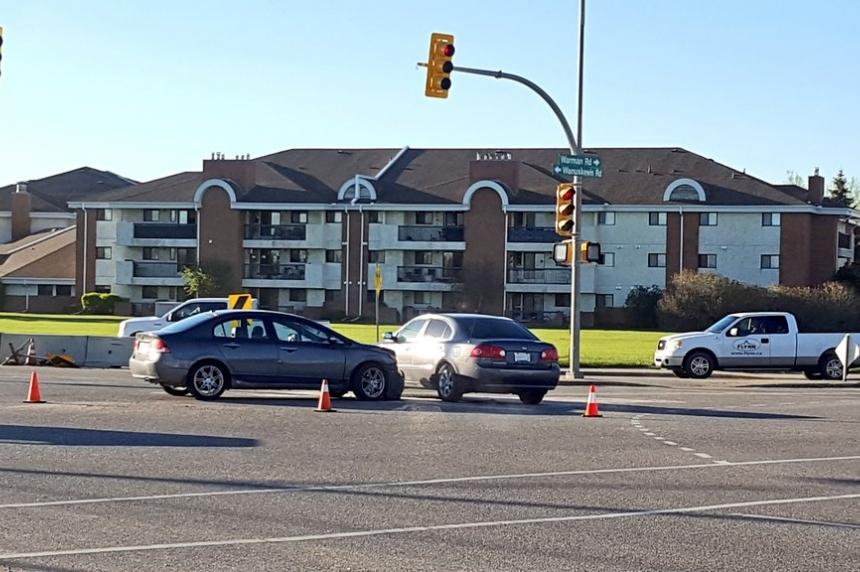 Collision near North Industrial area in Saskatoon