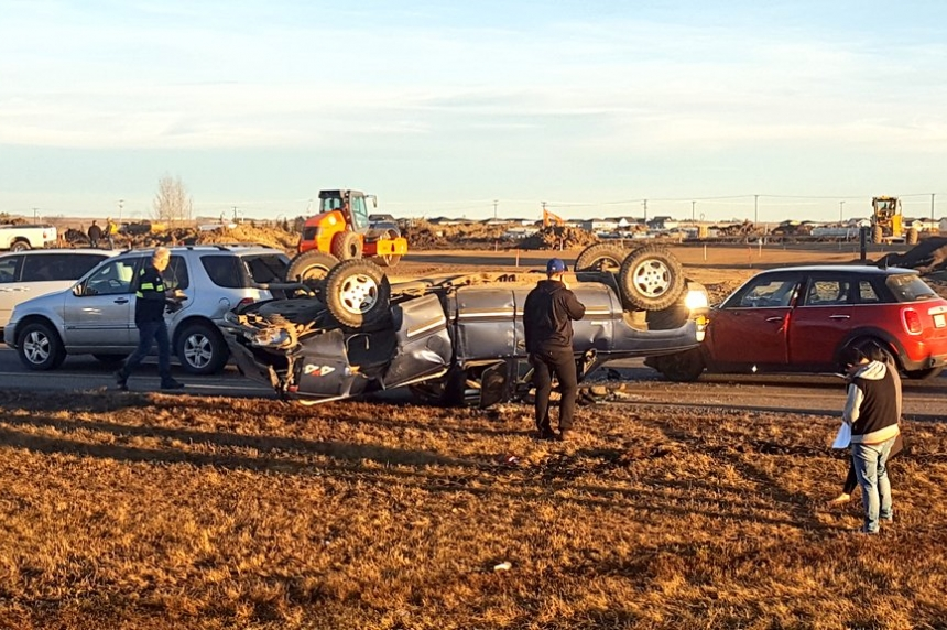No injuries in four-vehicle crash in Saskatoon