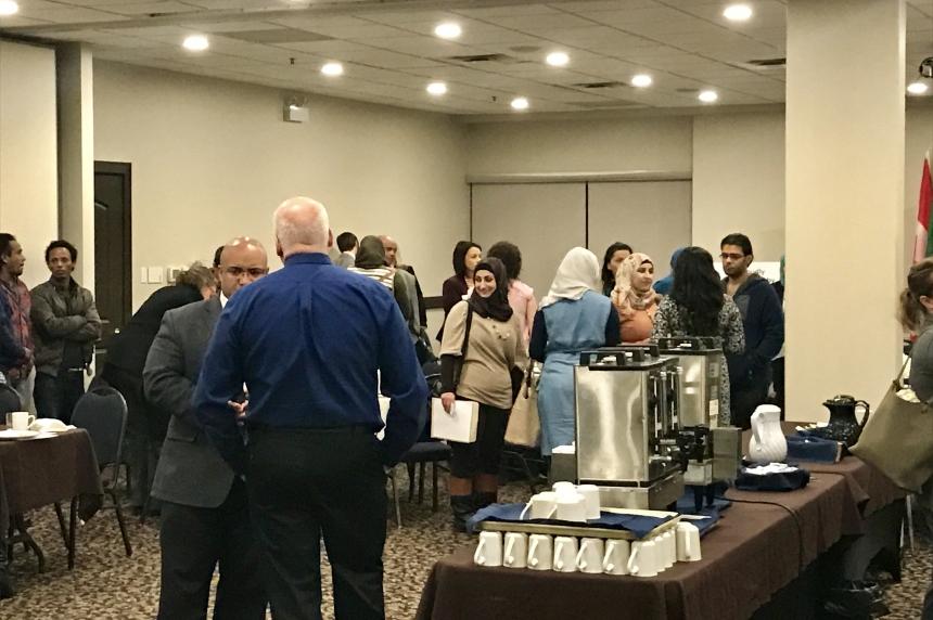Businesses in Regina meet with refugees seeking employment