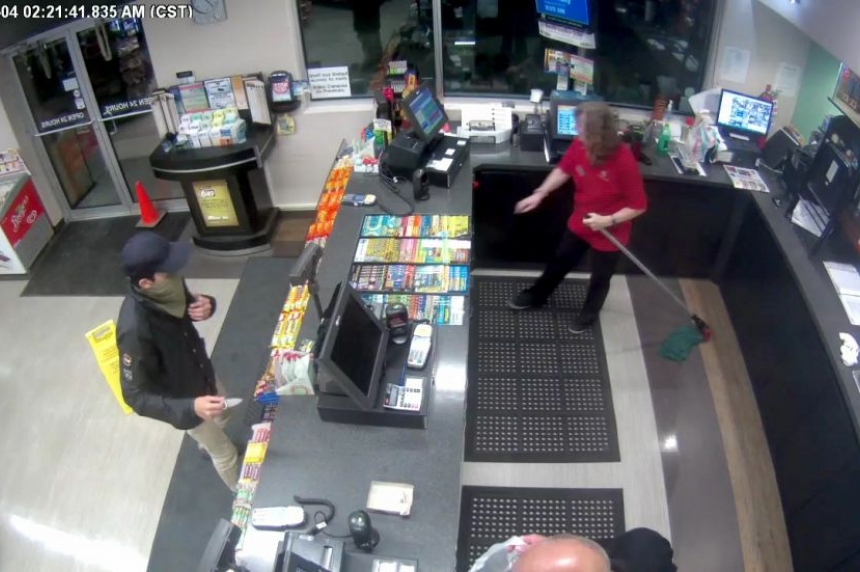 RCMP search for suspect in armed robbery at Hague gas station
