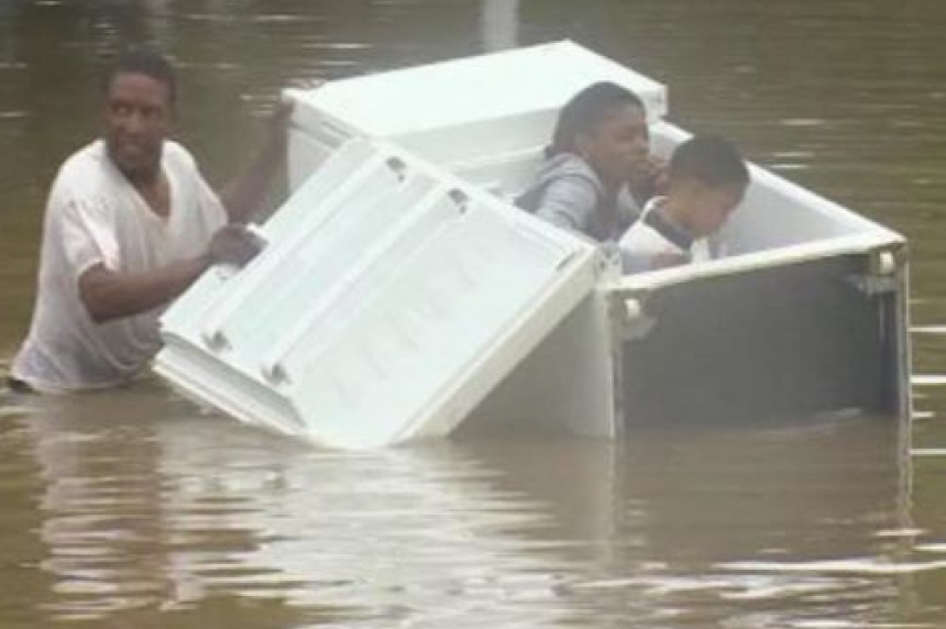Dramatic images show flooding in Houston