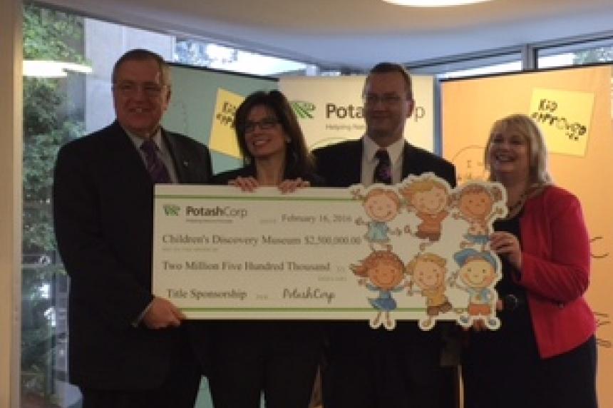 PotashCorp cuts cheque for new Saskatoon children's museum