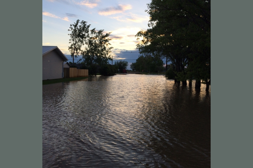 Lampman flooded as 100 mm of rain falls in southeast Sask.