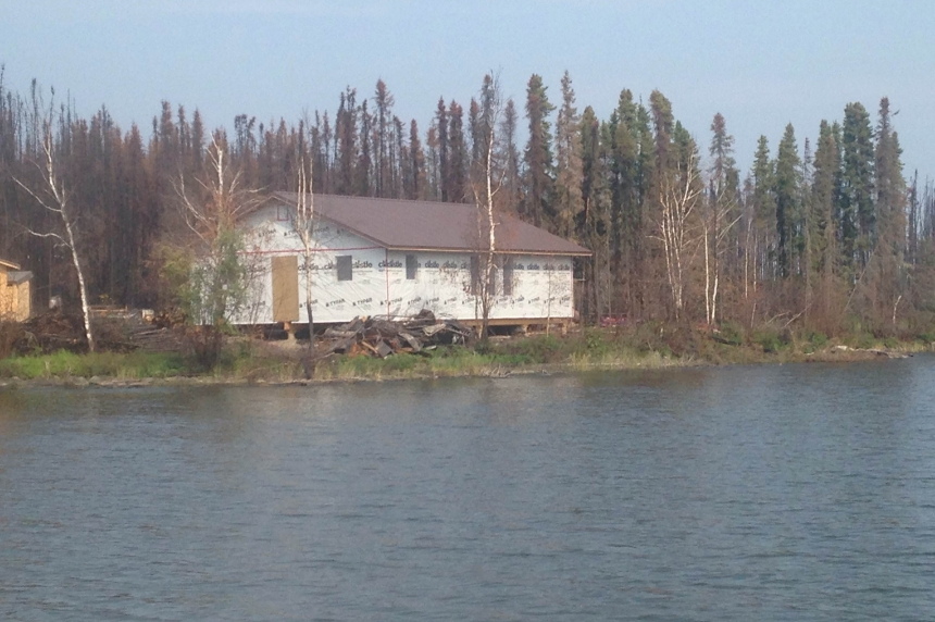 Rebuild on Nemeiben Lake begins after wildfires engulfed several cabins