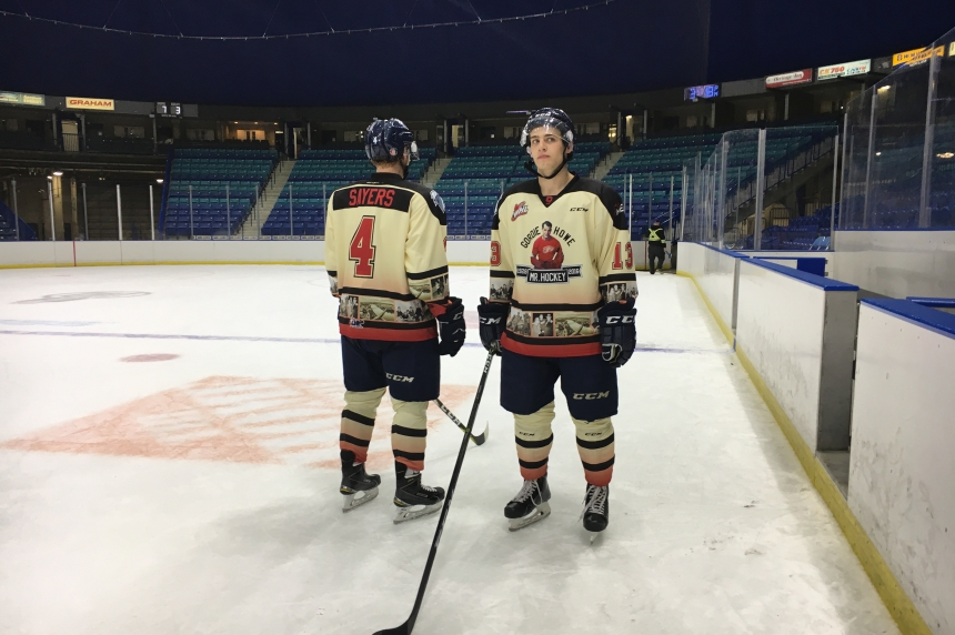 Blades unveil Mr. Hockey special jerseys ahead of Sundays homeopener