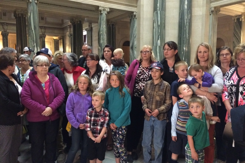 Preeceville residents rally at legislature for ER services