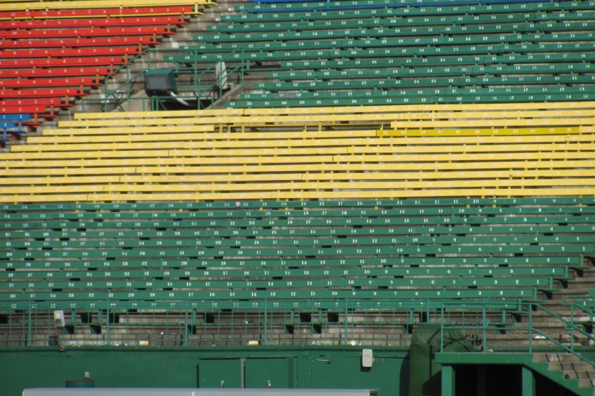 Missing seats at Mosaic Stadium not stolen according to the city
