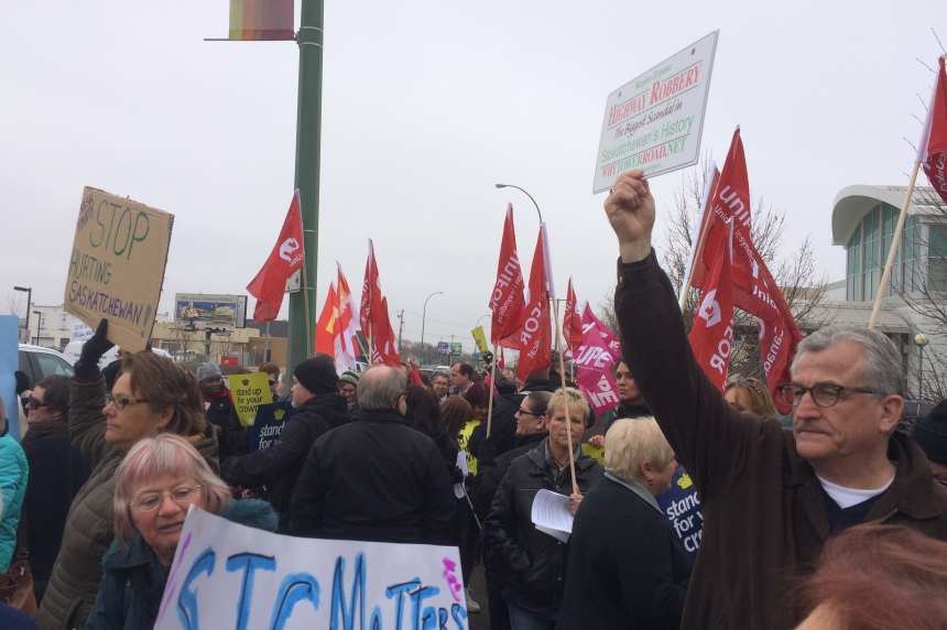 Dozens rally against government's decision to scrap STC