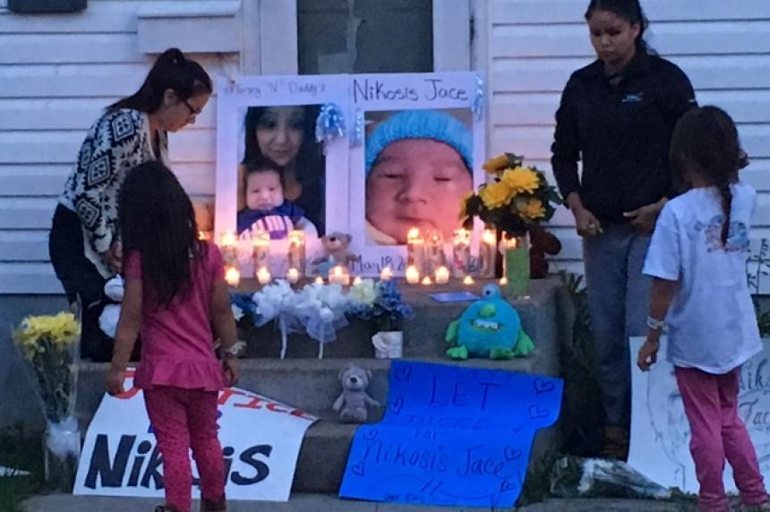 Family holds candlelight vigil in memory of murdered Saskatoon baby