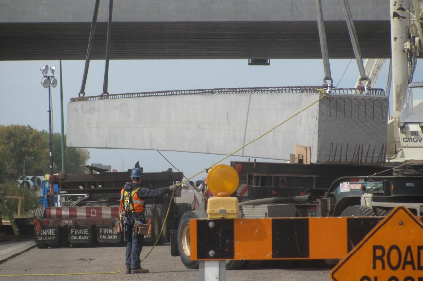 Girders installed at White City overpass