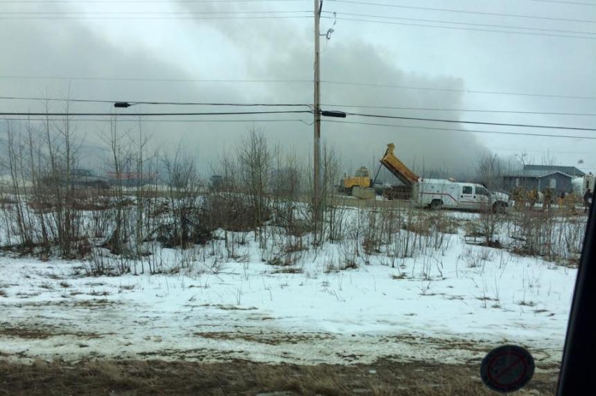 Update: Iconic building burns in La Ronge industrial fire