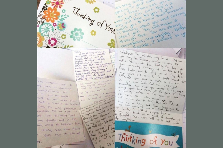 Students write emotional letters of encouragement to north Sask. youth