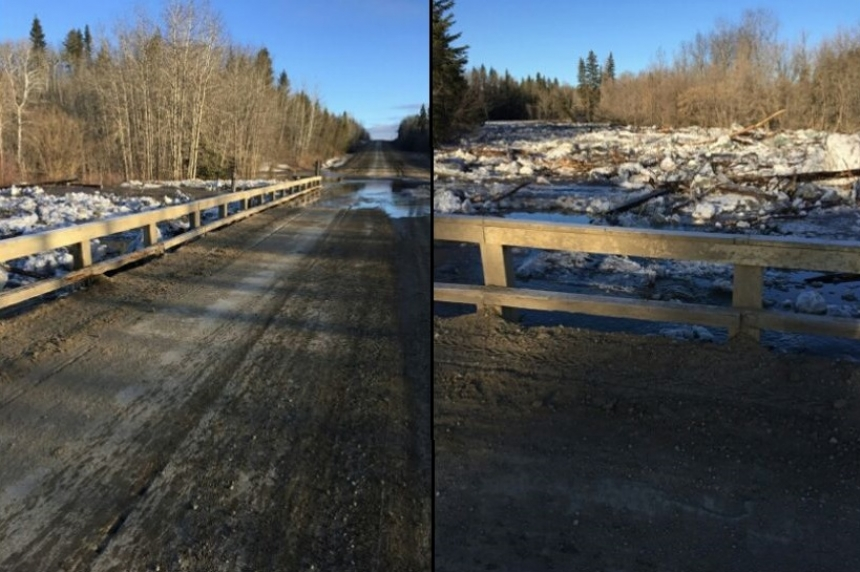 Ice jam damages bridge in RM of Torch River